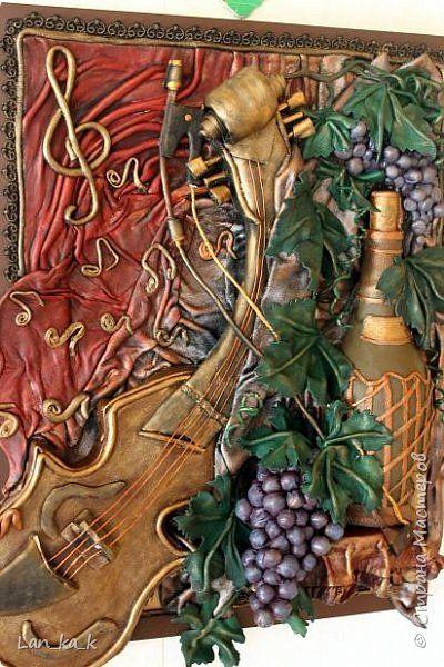 Картина панно рисунок Ассамбляж Картина из кожи «Натюрморт» Кожа фото 16