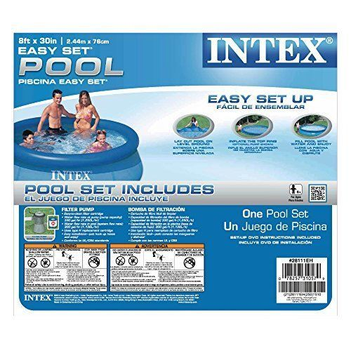 Intex 8ft x 30in easy set pool set 28111 family pools pinterest pools - Intex pool set aldi ...