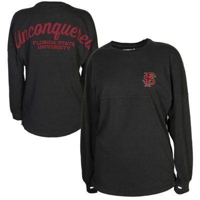 Florida State Seminoles (FSU) Sweeper Long Sleeve T-Shirt - Charcoal