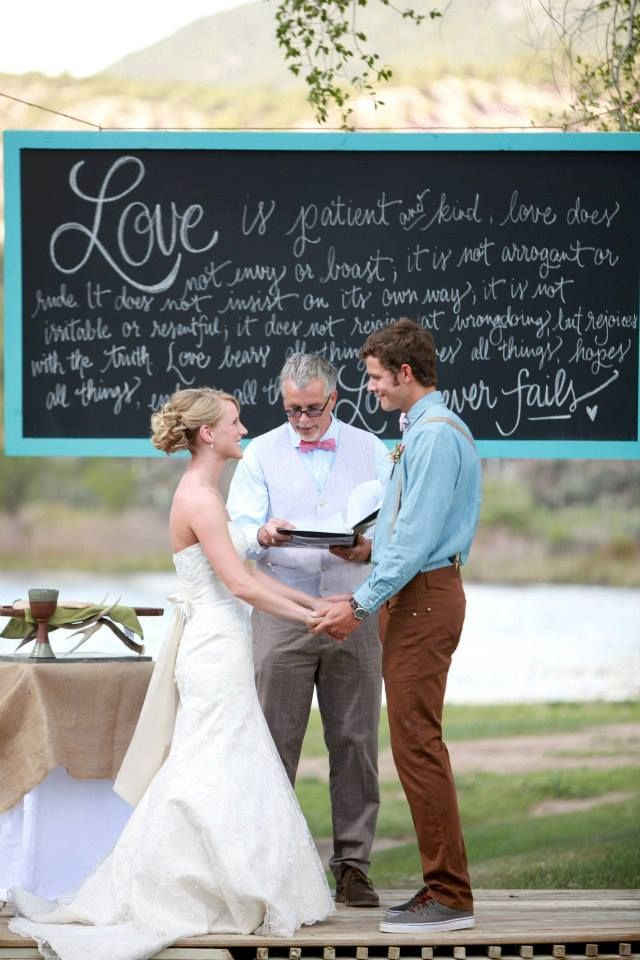 chalkboard calligraphy for wedding backdrop via DESIGN ROOTS - I would write various Beatles love quotes on it. (: