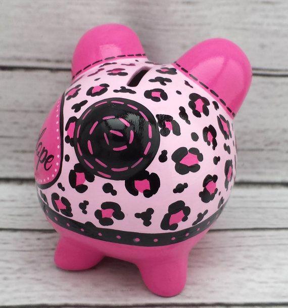 Caliente rosa y negro guepardo impresión pintada a mano animal