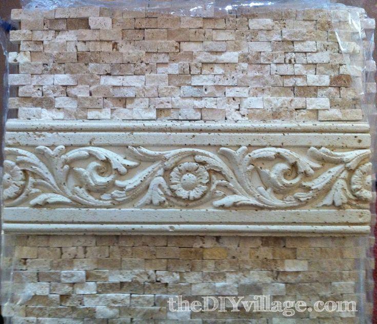 Installing Split Face Travertine Tile Backsplash, DIY Kitchen.