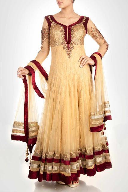 Anarkali frock suits 2014