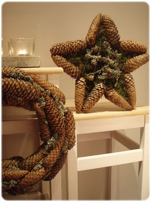 Beautiful pinecones wreaths