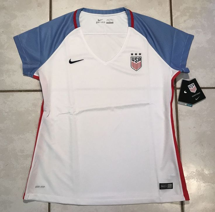 NWT NIKE USA National Team 2016 Soccer WHITE Jersey Women's XL  | eBay