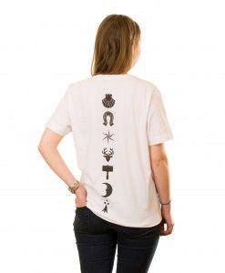 Heraldic Backbone T-Shirt in White