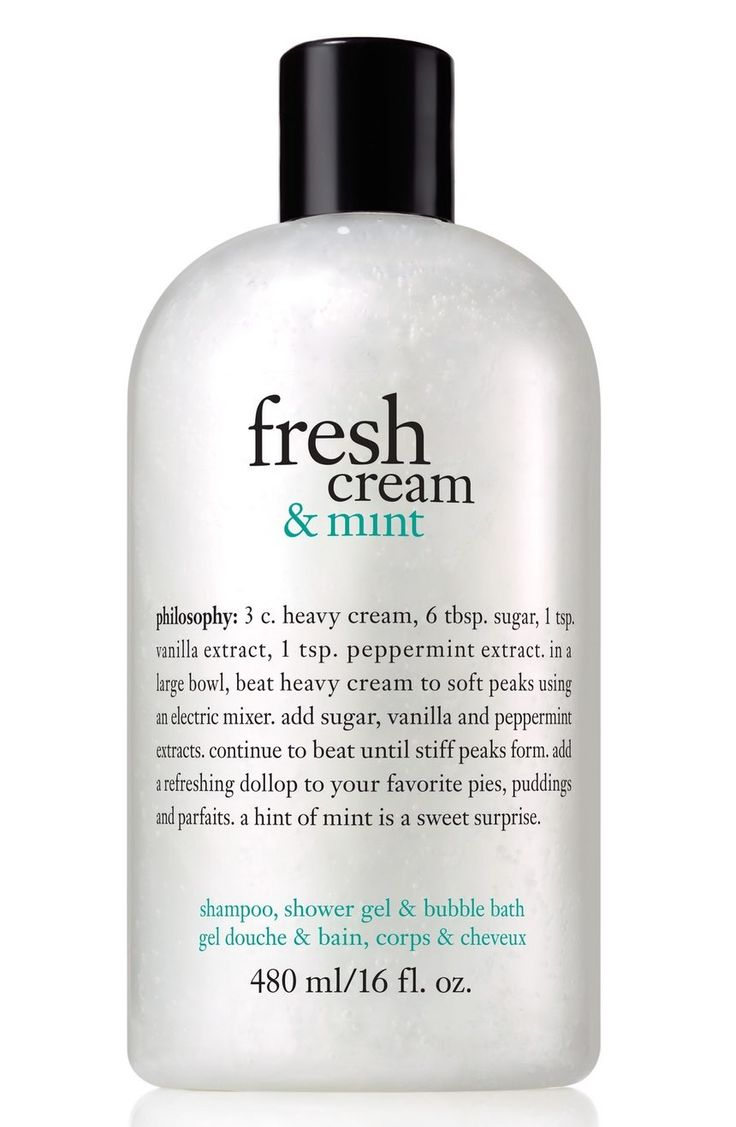 Indulge in philosophy's most-loved fresh cream scent with an added hint of mint.