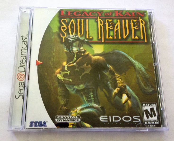 Legacy of Kain: Soul Reaver (Sega Dreamcast) - Reproduction Disc with Cover, Inserts, Manual and Full Color Disc Print