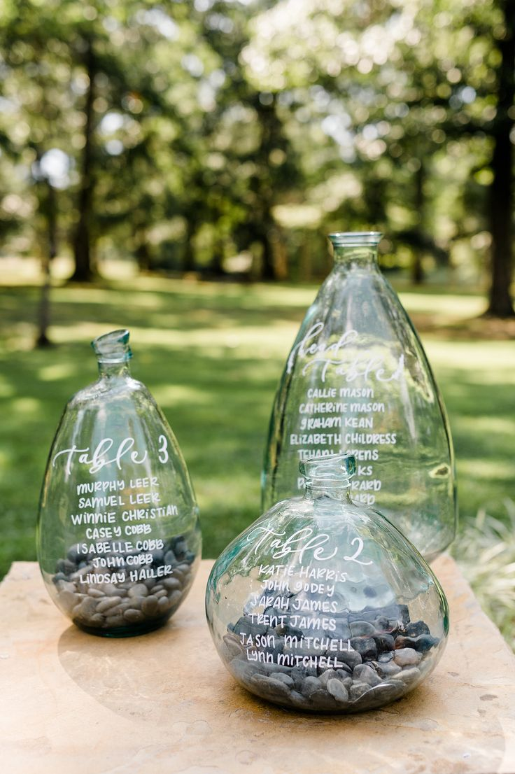 wedding seating chart ideas with glass - http://ruffledblog.com/summerfield-farms-wedding-inspiration-with-organic-accents