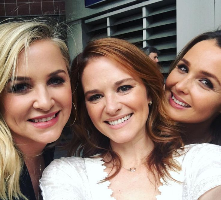 jessica capshaw, sarah drew and camilla luddington celebrating
