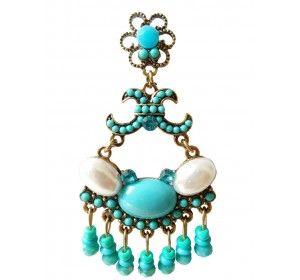 Brinco Azul com Pedra e Missanga - Rosa Rubrica Apenas 11,00 Conheça a nossa loja de bijuterias online. Entrega grátis para Varginha e Três Corações.