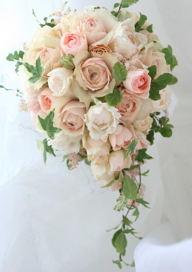 ブーケ セミキャスケード ジュンカップ : 一会 ウエディングの花