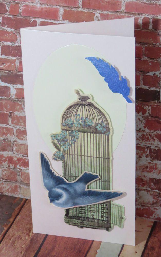 Handmade  Greeting , Birthday , Card Bird