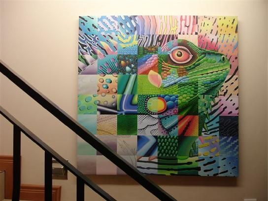 Iguana Oil Painting - Made in Thailand