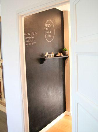 Peinture tableau noir...chez Barnabe aime le cafe