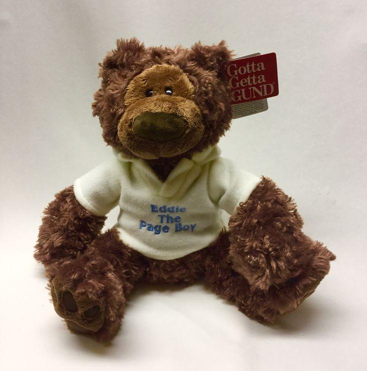 Personalised Philbin teddy bear for a page boy gift #pageboygift #weddinggift #siwb