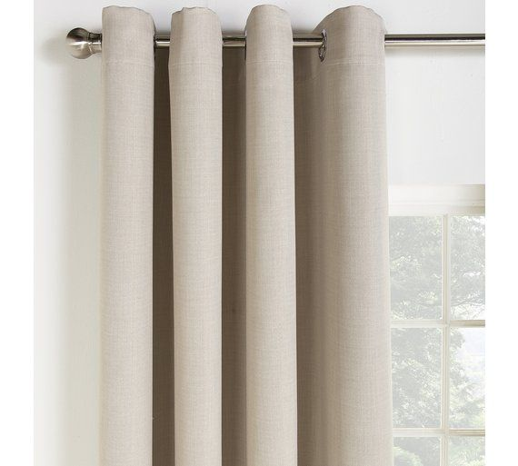 Buy Collection Linen Look Blackout Curtains - 168x229cm - Stone at Argos.co.uk - Your Online Shop for Curtains, Blinds, curtains and accessories, Home furnishings, Home and garden.