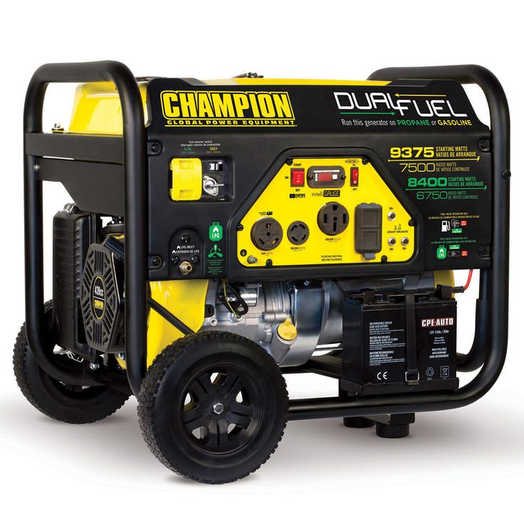 Champion 7500 watt dual fuel portable generator portable
