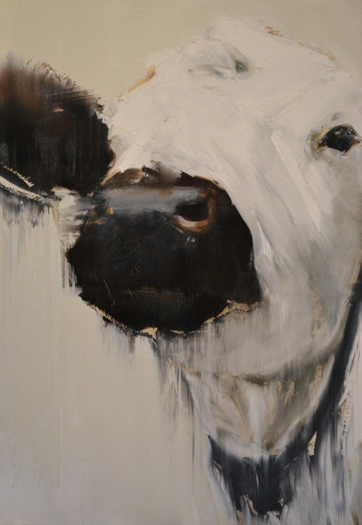 Cow painting | Elsa Sroka-love this for my kitchen