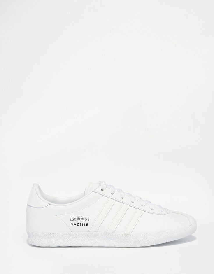 Adidas Originals Gazelle White & Silver Trainers