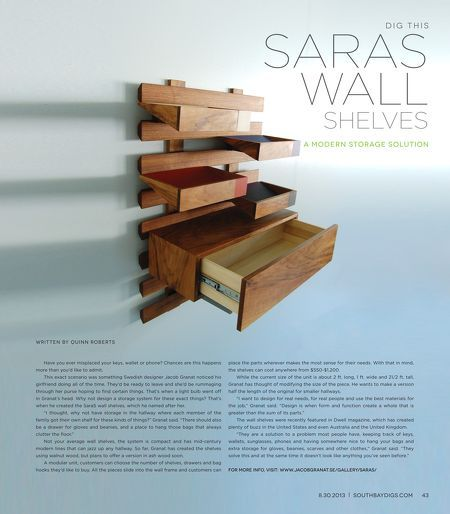 Saras Wall Shelves | #modern wall #shelves that are anything but ordinary