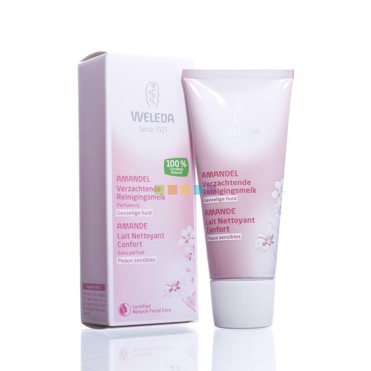 Weleda Amandel Verzachtende Reinigingsmelk, speciaal voor de gevoelige en reactieve huid. Surf naar PharmaMarket voor meer info.