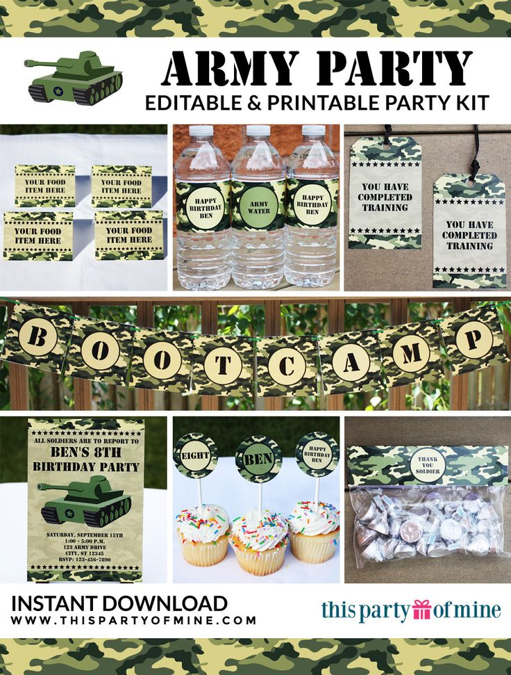 Printable Army Party Invitation Orderecigsjuice