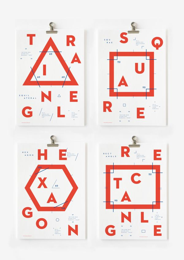 SHAPES // print // typography // bimbaam: bim