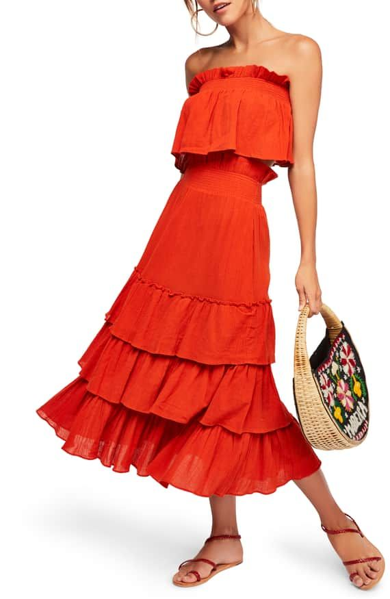 0fb6281a19c8 Elena of Avalor :: Endless Summer by Free People Sea Breeze Strapless Crop  Top & Midi Skirt