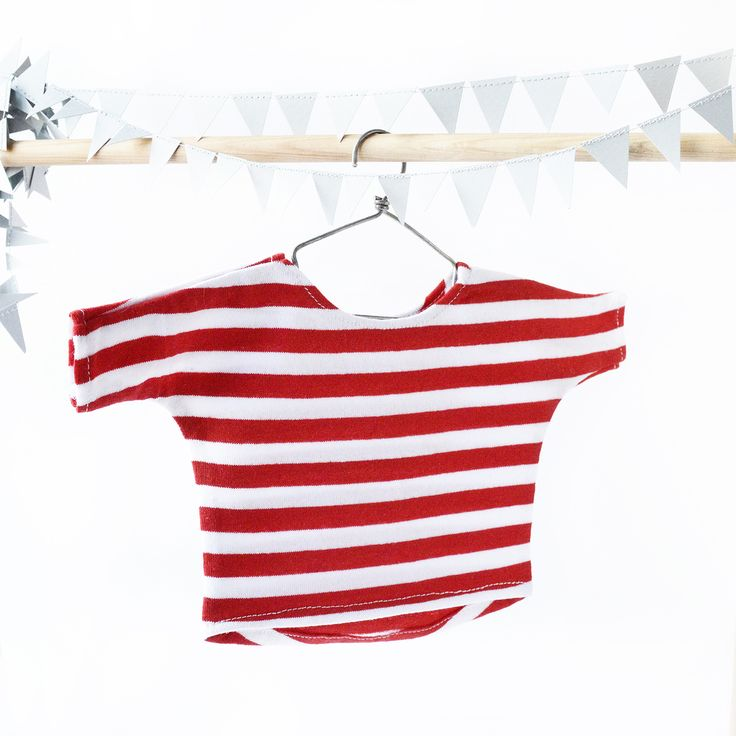 red and white sailor suit