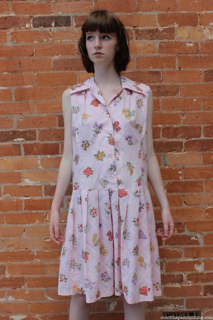 Muriel Ryan Serbin Vintage 1950s State Flowers Summer Dress