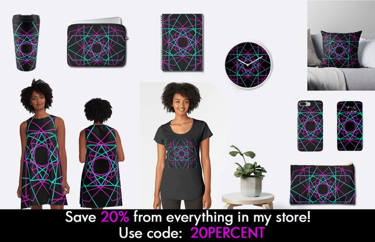 "20% OFF Everything in my Store!! ""Neon 80's"" Geometric design Gifts by Scar Design. #geometric #80s #neon #gifts #dress  #sale #salesgifts #autumnsales #save #moderngifts #giftsforher #homegifts #modernhome #geometriciphonecase #samsunggalaxycase #laptopcase #geometrictshirt #travelmug #organizepouch #travelpouch #redbubble #notebook #backtoschool #campus #campusnotebook"
