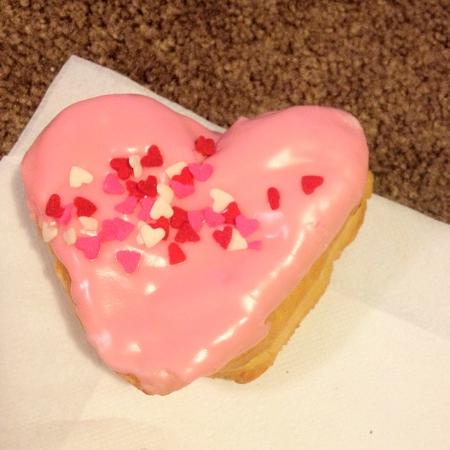 Cupids choice from Dunkin' Dounts. It was yummy!
