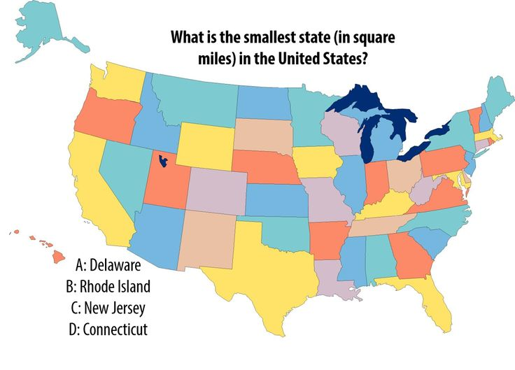 National Trivia Day Question: What is the smallest state ...