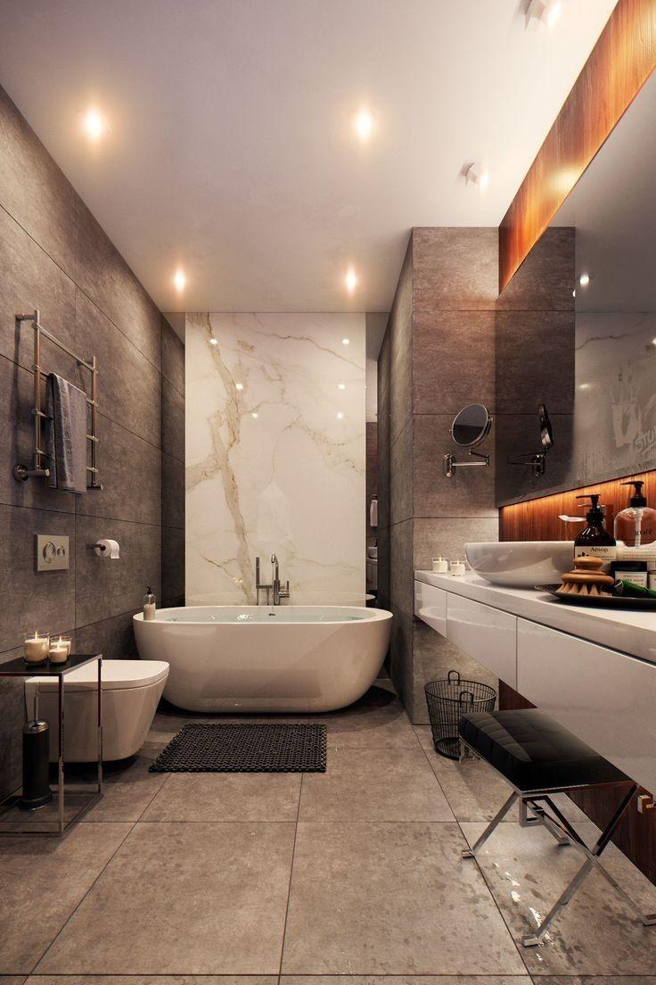 20 Bathroom Lighting Ideas For Every Design Style With Images Modern Master Bathroom Bathroom Interior Bathroom Design
