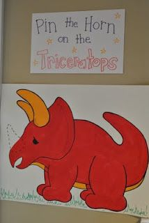 Pin The Horn on the Triceratops
