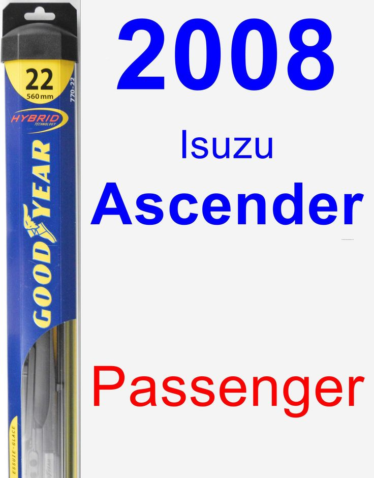 Passenger Wiper Blade for 2008 Isuzu Ascender - Hybrid