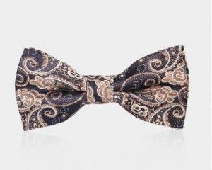 bow tie adjustable brown 1056