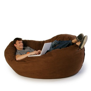 Cocoon Chocolate Three In One Lounger Beanbag Chair By Jaxx