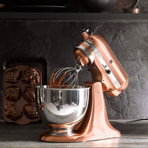Cool Mom Eats holiday gift guide 2016: Looking to spoil the cook who has everything? This gorgeous copper KitchenAid stand mixer is a knock out gift!