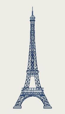 Eiffel Tower (220mm x 220mm Hoop) by Judean888 on Etsy