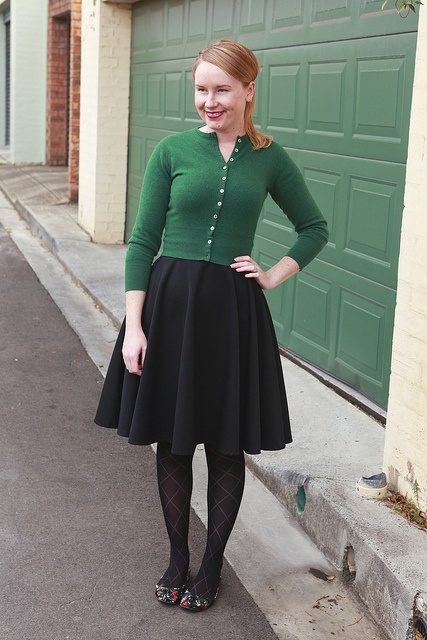 Day 22 Me Made May - Self-drafted Black Circle Skirt {via Jennifer Lauren Vintage}