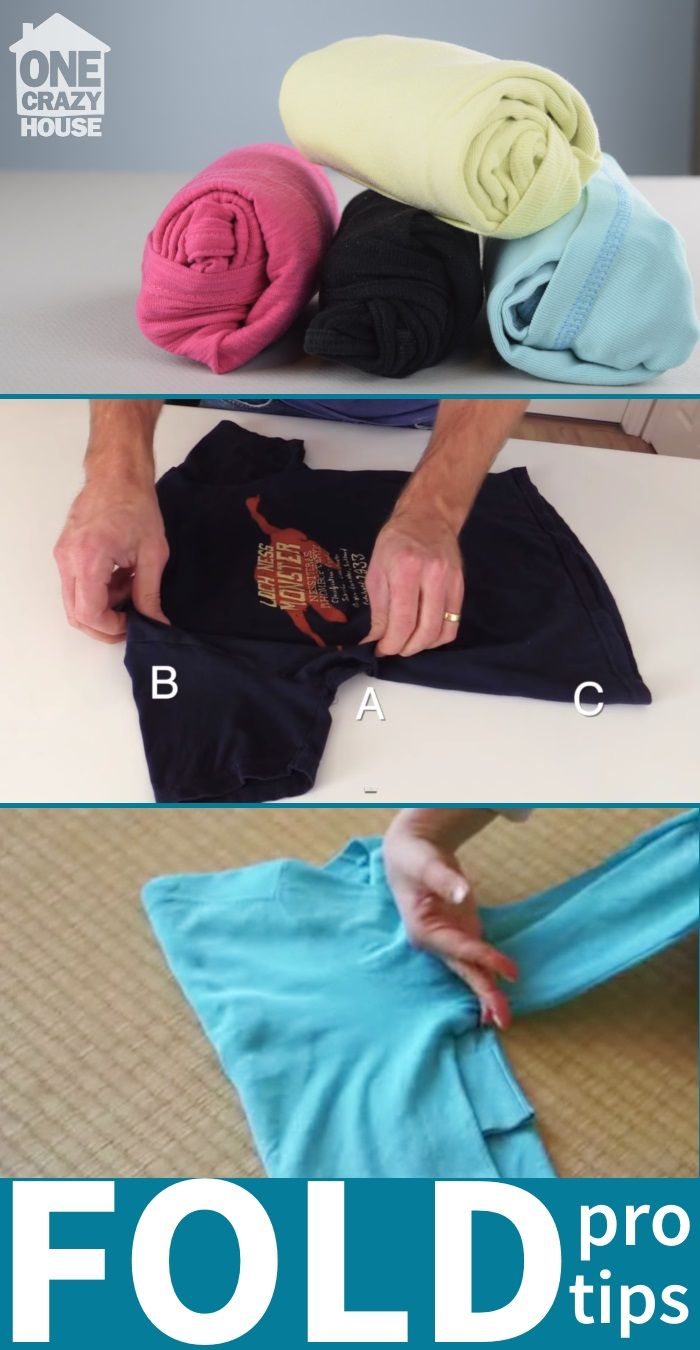 Five shirt folding hacks you cannot live without. Fold a shirt perfectly in seconds with these tee shirt tips.