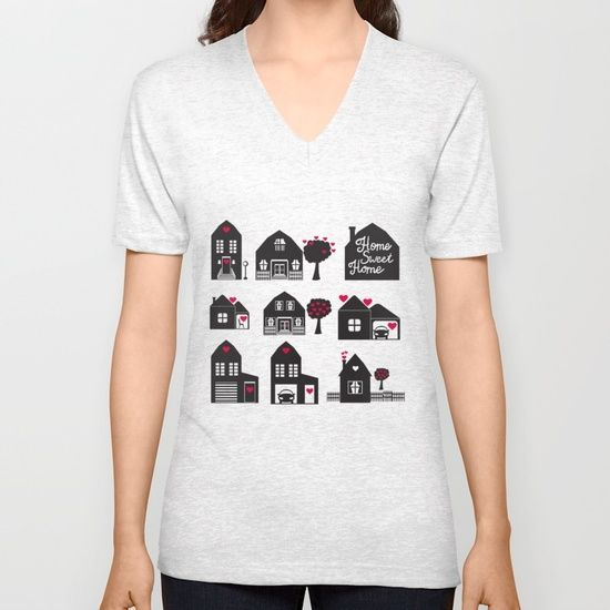 Home Sweet Home. Dreams and Memories. Unisex V-Neck
