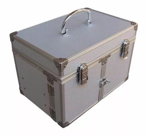 maletin porta cosmeticos valija caja profesional aluminio!!!