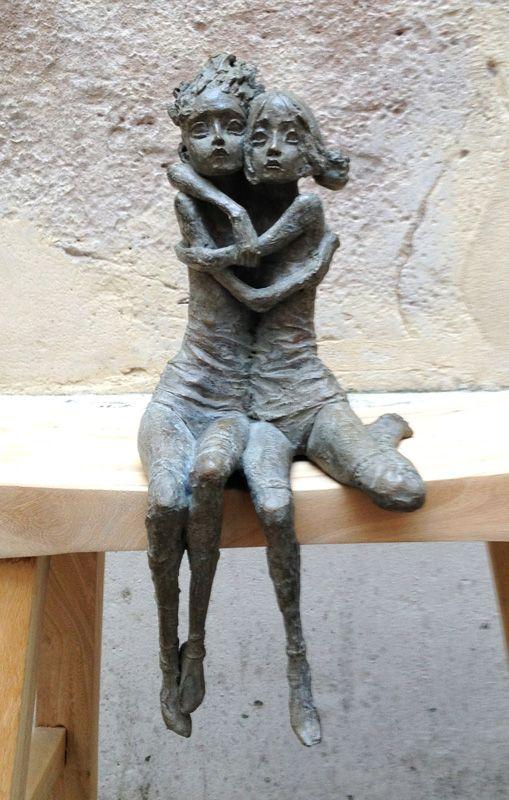 Les âmes soeurs - Terre et bronze H 37 Valerie Hadida Matieresdart.com