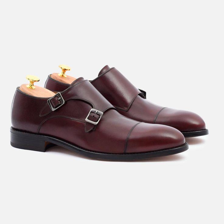 Hoyt Monk-Strap - Calfskin Leather - Bordeaux