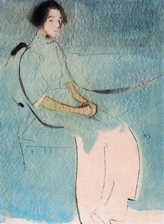 Helene Schjerfbeck (Finnish 1862-1946) : The Baker's Daughter, 1913