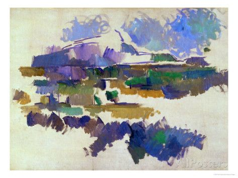 The Mont Sainte-Victoire, Seen from Lauves, 1905 Giclee Print by Paul Cézanne at AllPosters.com