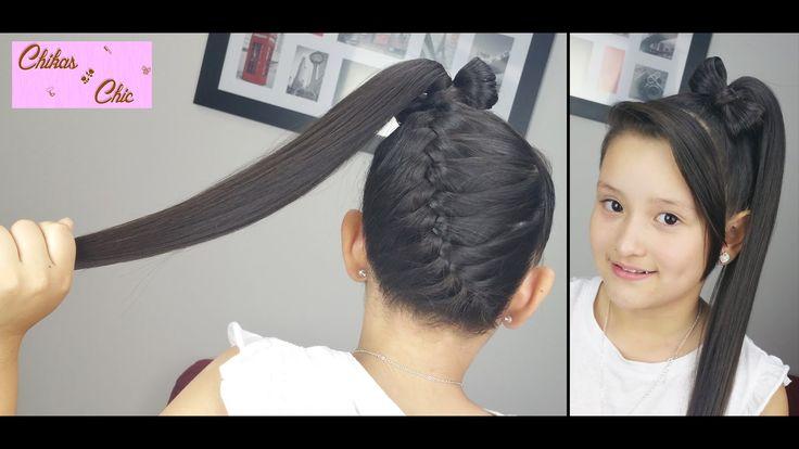 Diagonal Braid into a Ponytail Bow! | Braided Hairstyles | Hair Bow | Cu...